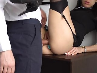 Ass Fucking Internal Vociferation For Gorgeous Super-Bitch Assistant, Chief Smashed Her Cock-Squeezing Cooter Coupled with Culo!