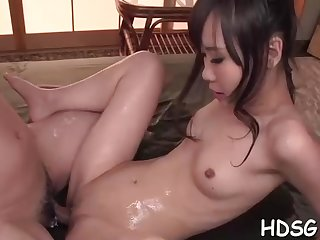 Asian student is getting her daily portion of penetrate, outsider a fellow she is in enjoy with
