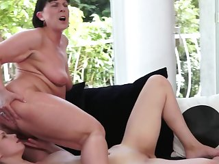 Young slut adores error-free lesbian sexual intercourse with mature mistress