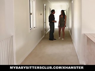 MyBabysittersClub - Cute Teen BabySitter Fucked By Perv