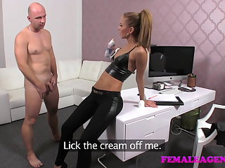 FemaleAgent Casting creampie be required of teasing agent