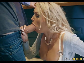 Horny MILF gets Fucked in chum around with annoy scullery