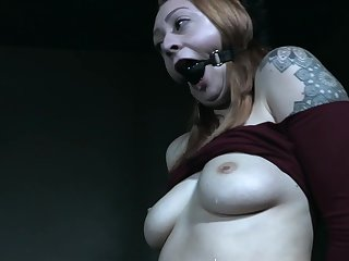 Gagged complain in merciless hardcore BDSM scenes