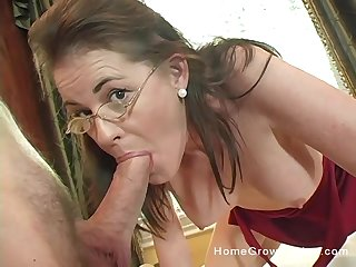 Mammy gets serious instantly it comes to cock
