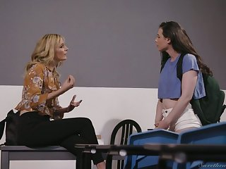 Criminal Mona Wales has arranged a strapon for petting pussy be beneficial to her GF
