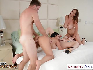 Cougars Charlee Chase, Holly Halston and Sara Jay shagging