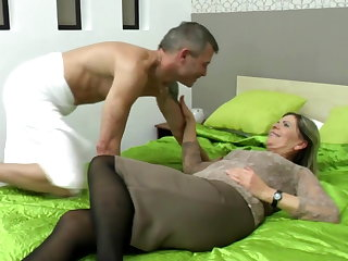 Sexy grandma suck and fuck lucky wretch
