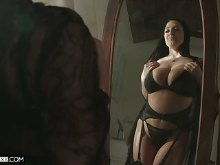 Ample breasted hot spliced Angela White thanks will not hear of husband for sybian