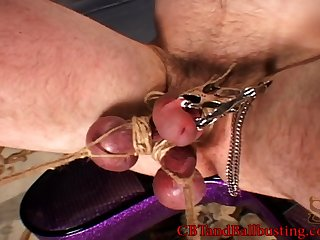 Horny pornstar wide a hardcore BDSM playhouse a hot ball busting