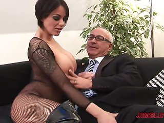 Victoria Pessimistic fists her own asshole and gets fucked by an older guy