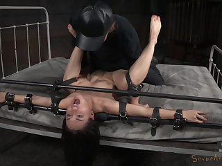 Rough bondage slave training session for submissive Gabriella Paltrova