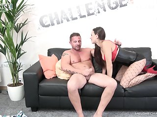Popular Czech porn get up to Mea Melone is fucked by twosome kinky guy