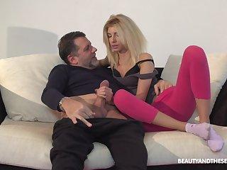 Hottie Missy Luv loves having sex with her older next door neighbor