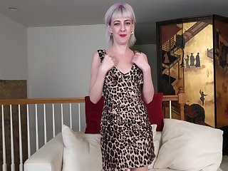 Sex-starved ugly woman Sylvia S is masturbating cunt