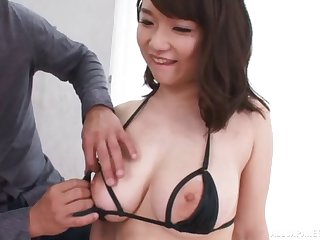 Natural body Japanese chick Rena Momozono moans not later than conscientious sexual intercourse