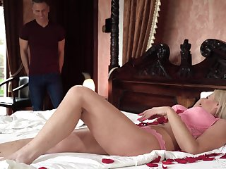 Busty cougar is just too damn sexy for an old man increased by needs a young man's cock