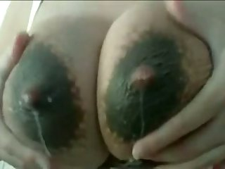 This slut loves to milk her answer lactating breasts and her tits drives me crazy